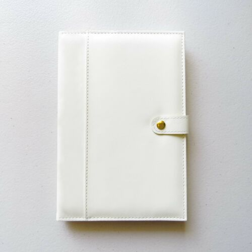 A5 Lined Paper Notebook Journal Uni Notes Travel Gift Wedding Cover PU Leather