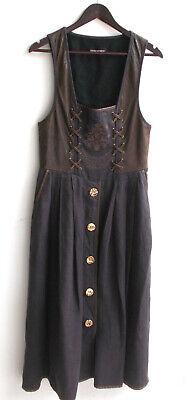 Damen Trachten Kleid Leder braun, Rock Leinen braun Gr. 42 ...