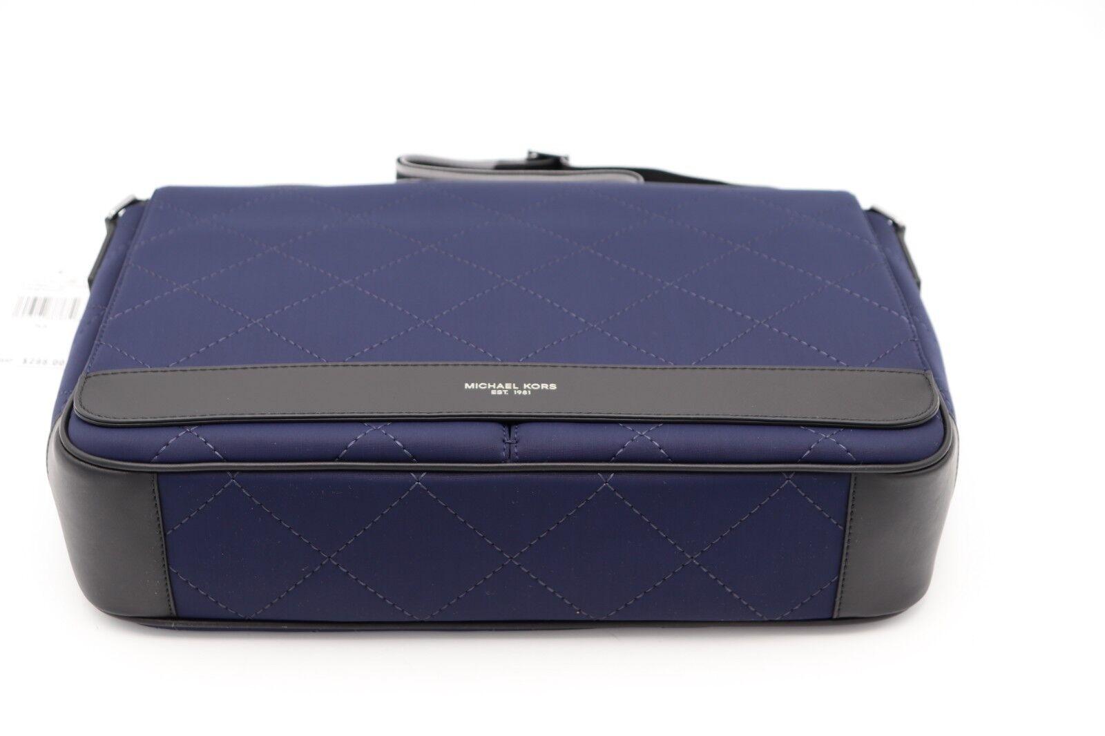 44cff2f439e0 Michael Kors Mens Odin Blue Quilted Neoprene EW Messenger Bag for sale  online | eBay