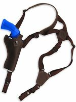 Barsony Brown Leather Vertical Shoulder Holster Rossi Navy Arms 4 Revolvers