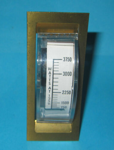 Prime Instruments Watt Meter Reader Full Scale 3750W at 125VAC 60-579 125V AC