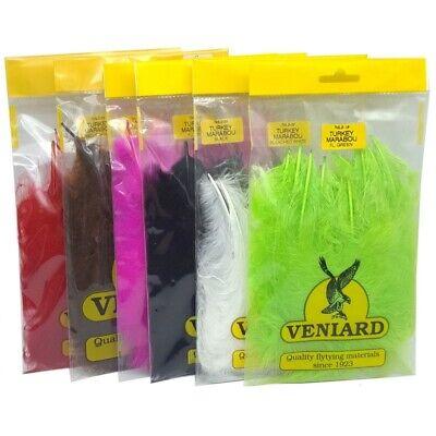Fly Tying Veniard Turkey Marabou new fluoro colours