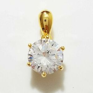 2Ct-Round-Cut-Solitaire-Diamond-Pendant-Solid-18-034-Necklace-14k-Yellow-Gold-Over