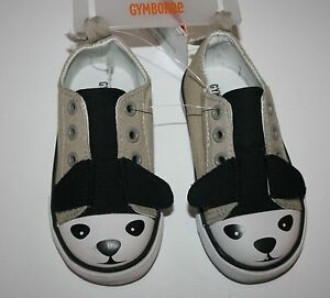 New-Gymboree-Canvas-Windy-Puppy-Tan-Shoe-with-Puppy-Face-Size-4-Toddler-Boy-NWT
