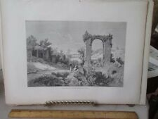 Vintage Print,VIEW FROM PALATINE,Rome,Francis Wey,1872