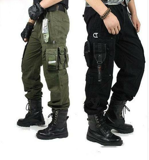 Men's cargo millitary clothing Tactical Pants Outdoor Camo workwear Trousers s03