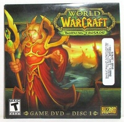 World Of Warcraft The Burning Crusade Disk 1 Game Dvd Blizzard Windows Mac Ebay