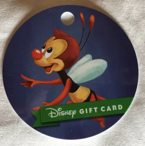 Disney Collectable Gift Card NV Mint Disney Spike Flower And Garden 2020 no band