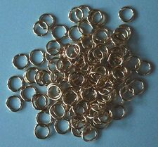 100 gold plated 8.5mm jump rings, findings for jewellery making crafts