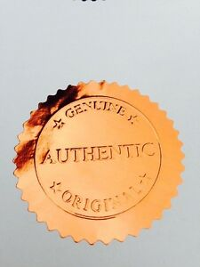 30 x Gold Foil Seal Stickers Embossed Certificates Wafer Thin 50mm Labels VIRTUS