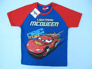 24-OFF-LICENSED-DISNEY-CARS-MC-QUEEN-BOY-039-S-TEE-SIZE-12-11-12-YRS-BNWT-PHP-289