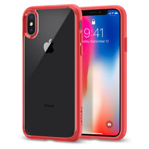 For-iPhone-X-10-I-Spigen-Ultra-Hybrid-Clear-Hybrid-Hard-Shockproof-Case-Cover