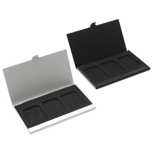 Aluminio aleación caso de tarjeta de Memoria Caja de tarjeta titulares para tarjetas SD de 3PCS J6B6 L7D7