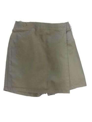 Dickies Girls School Uniform Scooter Skirt Shorts Khaki Tan Poly Twill 20 New