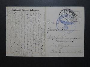 Germany-1940-Feldpost-Card-Erlangen-CDS-Center-Fold-Z10103