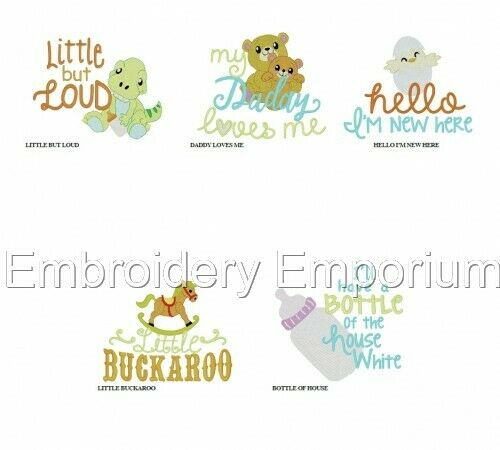 MACHINE EMBROIDERY DESIGNS ON CD OR USB BABY BIBS /& BUMPERS COLLECTION