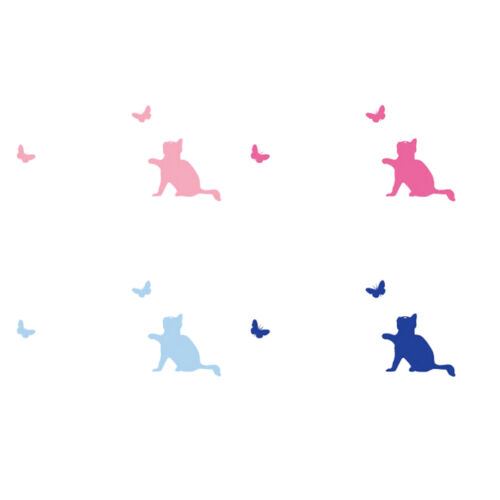 Cat Switch Wall Sticker Removable Baby Kids Bedroom Home Decal Decoration SP