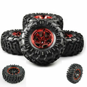 4Pcs-Bigfoot-Tires-amp-Wheel-12mm-Hex-130mm-1-10-For-RC-Monster-Truck-Crawler-Car