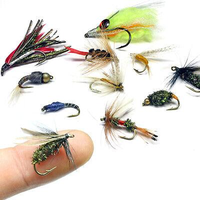 32 Stück Fliegen Fischen Trockenfliegen Köder Haken Künstliche Bugs Pack