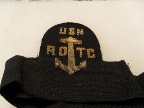 WWII HARD TO FIND BULLION USN-ROTC VISOR INSIGNIA