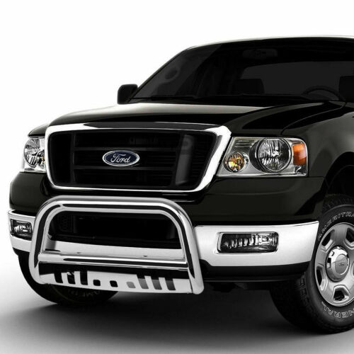 Fit 04-16 Ford F150 Non-Ecoboost//03+Expedition Chrome Bull Bar Push Bumper Guard
