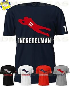 84758050a59 New England Patriots Julian Edelman Jersey Tee Shirt Men Size S-5XL ...