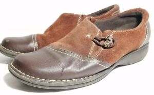 a07880caab0b3 Details about Clarks Artisan Women's Brown Suede and Leather Flats Shoes  Size 9M 31070