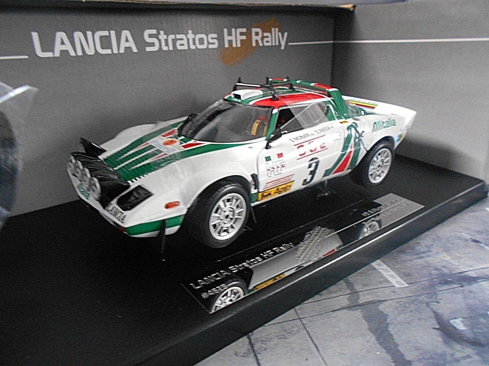 Lancia Stratos HF Rally Mgoldcco Maroc 1976 Munari Alitalia New Sunstar 1 18