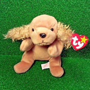 7d7e08e78a1 MWMT 1997 Rare Retired Spunky The Dog Cocker Spaniel Ty Beanie Baby ...