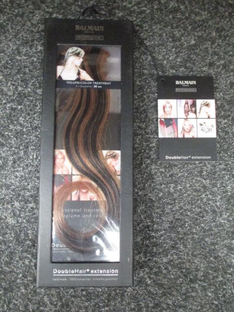 5 x Balmain Paris Double Hair Volume Colour 30cm extension 3pcs Contrast Brown