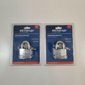 EZ Storage 1 3/4 in Double Locking Laminated Steel  Padlock EZ-744 Set of 2