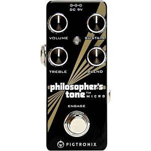Ambitieux Pigtronix Philosophers Tone Micro Compression Soutenir Pédale D'effets Guitare-afficher Le Titre D'origine RafraîChissant Et BéNéFique Pour Les Yeux