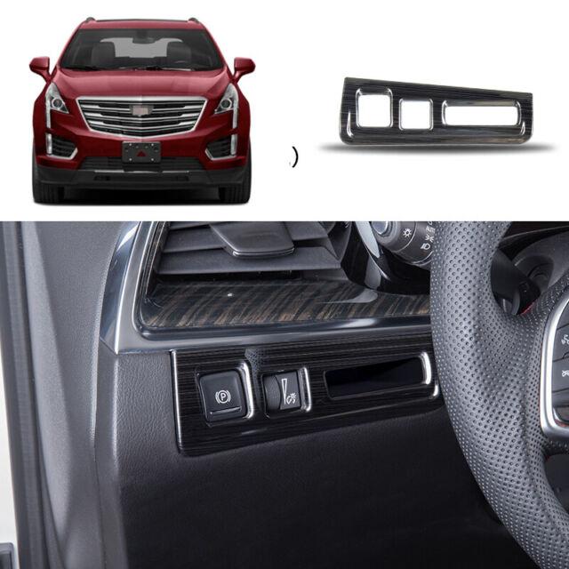 2016 2020 Cadillac Cts V Hpe1000 Upgrade: Black Titanium Headlight Switch Frame Cover Trim 1pcs For