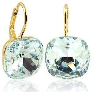 Ohrringe-mit-Kristallen-von-Swarovski-Gold-Light-Azore-Blau-NOBEL-SCHMUCK
