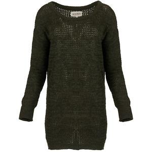 wholesale dealer d0b8d 3ae48 Details zu DESIRES Damen Long Pullover Strick Pulli Strickpullover  Grobstrick Strickpulli