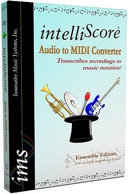 boxed IntelliScore Ensemble MP3 to MIDI Converter music transcription software