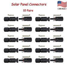 Sudoo MC4 Connectors 10 Pairs for Solar Panels Waterproof IP67 Male Female