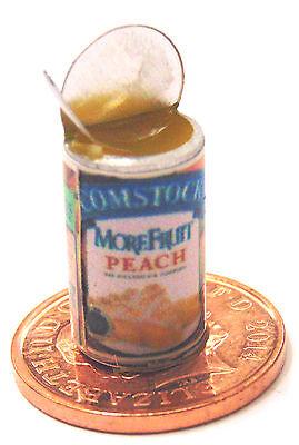 1:12 Scala Aperta In Metallo Latta Di Pesche Tumdee Casa Delle Bambole Accessorio Cucina Frutta-mostra Il Titolo Originale Lustro Incantevole