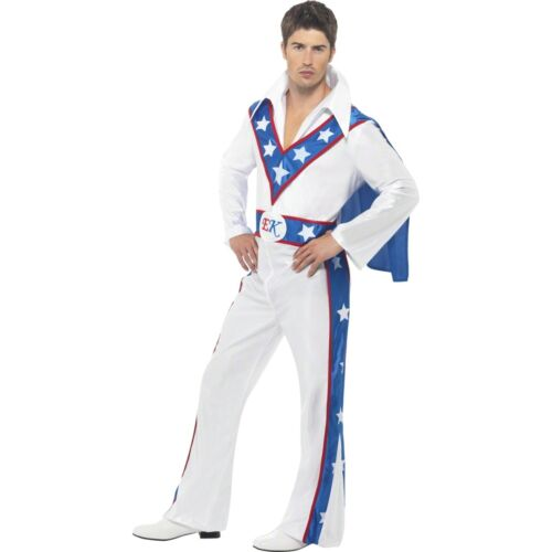 Evel Knievel Daredevil Stunt Man Icon Novelty Adults Mens Fancy Dress Costume