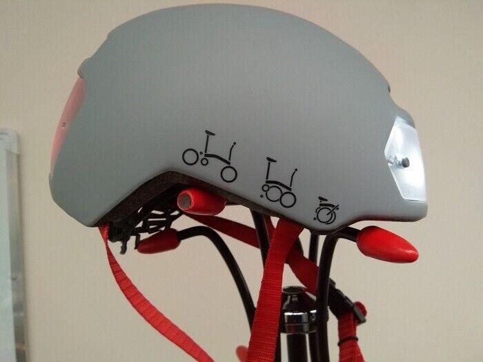 Torch bicicleta casco-Color  Brompton gris-tamaño  54 - 61 cm