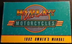 1992 harley davidson motorcycle owners manual p n 99466 92 220 ebay rh ebay com 1992 Harley Sportster 1992 Harley 883