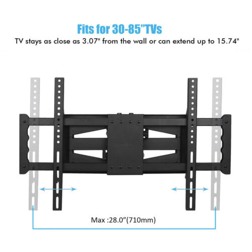 "for 32-85/"" Strong Dual Arm Heavy Duty Full Motion TV Wall Mount Swivel Bracket"