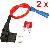 2 Pcs 12/24V Add Circuit Fuses Tap Piggy Back MINI Blade Fuse Box Holder ATM APM