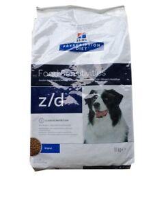 10kg-Hills-Prescription-z-d-Food-Sensitivities-Allergie-amp-Hautpflege-Canine-Diet