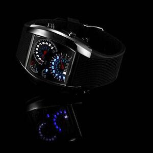 Reloj-Pulsera-LED-Cuarzo-Analogico-Deportivo-Lujo-Acero-inoxidable-para-Hombre