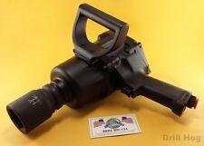 """Drill Hog 1"""" Air Impact Wrench Air Gun Twin Hammer 2000 Ft LBS Lifetime Warranty"""