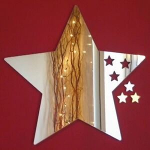 Stars out of Star Acrylic Mirror (Several Sizes Available)