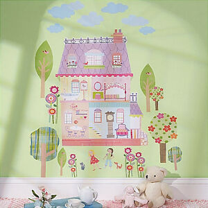 WALLIES PLAY HOUSE Dollhouse Wall Stickers MURAL Decals Girls - Wall stickers for girls