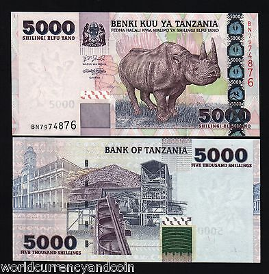 ELEPHANT UNC ANIMAL MONEY BANKNOTE TANZANIA 10000 10,000 SHILLINGS P39 2003 ND