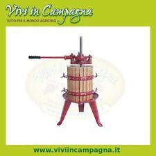 Torchio movimento razionale manuale gabbia in legno diametro 30 cm, per uva vino